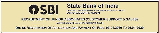 Assam Jobs 2020: RECRUITMENT OF JUNIOR ASSOCIATES, SBI: APPLY NOW!