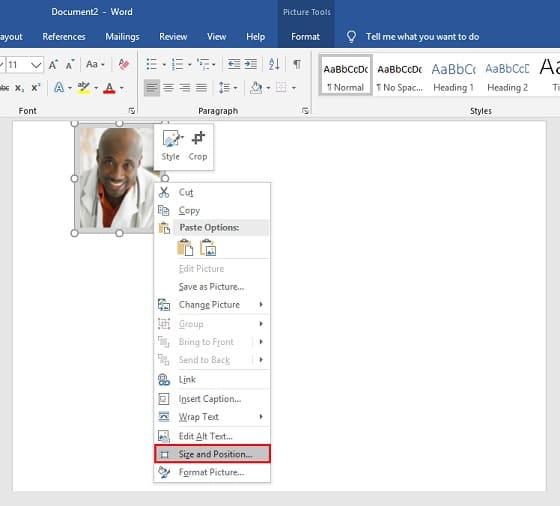Print Foto di Microsoft Word