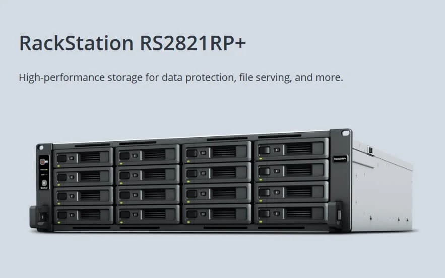 Synology Unveils 3U 16-bay RackStation RS2821RP+