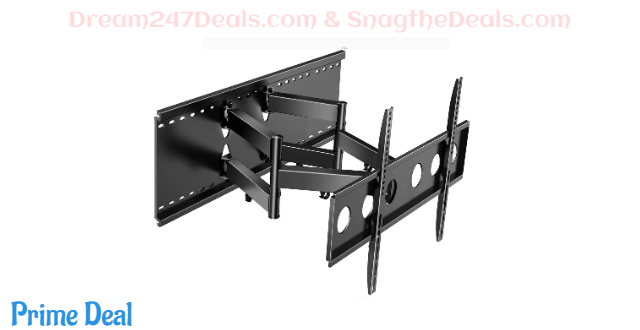 55%OFF Full Motion TV Wall Mount for Most 37-80 Inch TVs up to 132lbs Max VESA 600×400