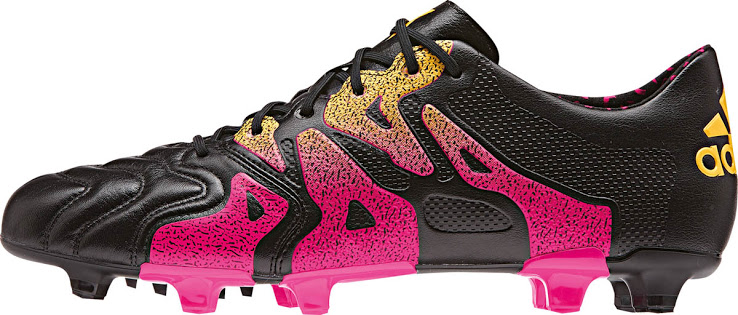 34840399 Billige Fotballsko 2016 Adidas X 15.1 FG/AG Lær Svart Shock Pink Solar Gold