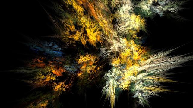 Aurora Fractal Dark HD Background