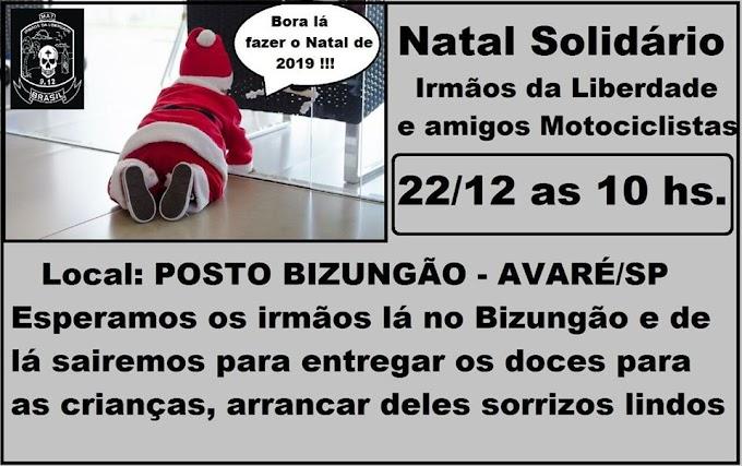 CAMPANHA DE NATAL  DO MOTOCLUBE IRMÃOS  DA LIBERDADE