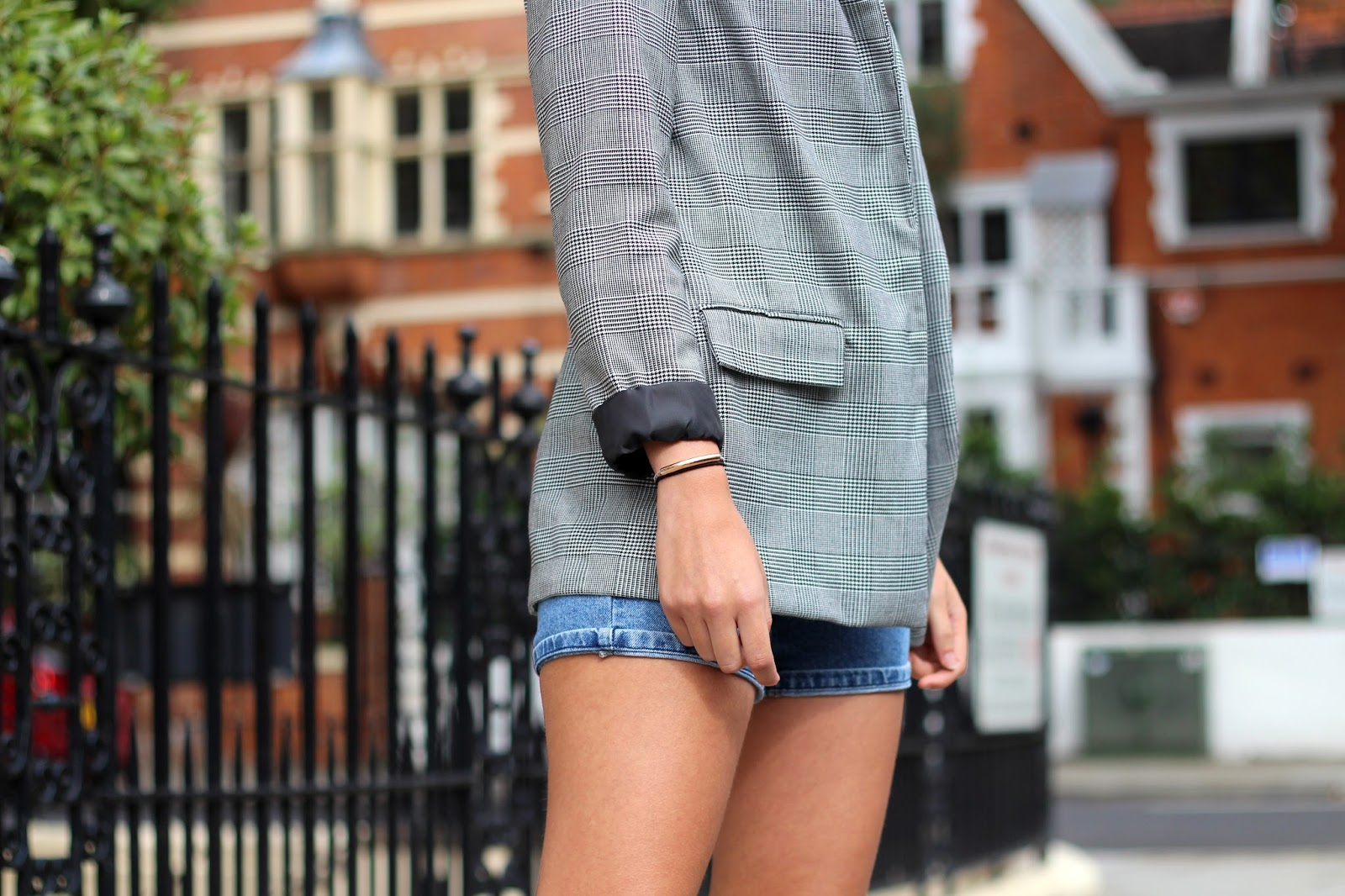 prince of wales check blazer peexo fashion blogger