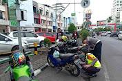 Parkir di Trotoar, Kasatlantas Polresta Manado Kempesin Ban Kendaraan