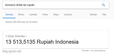 Konversi Dollar ke Rupiah