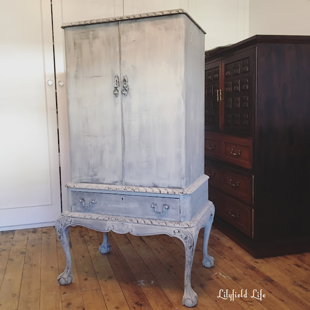 vintage cocktail cabinet repaired and painted by Lilyfield Life
