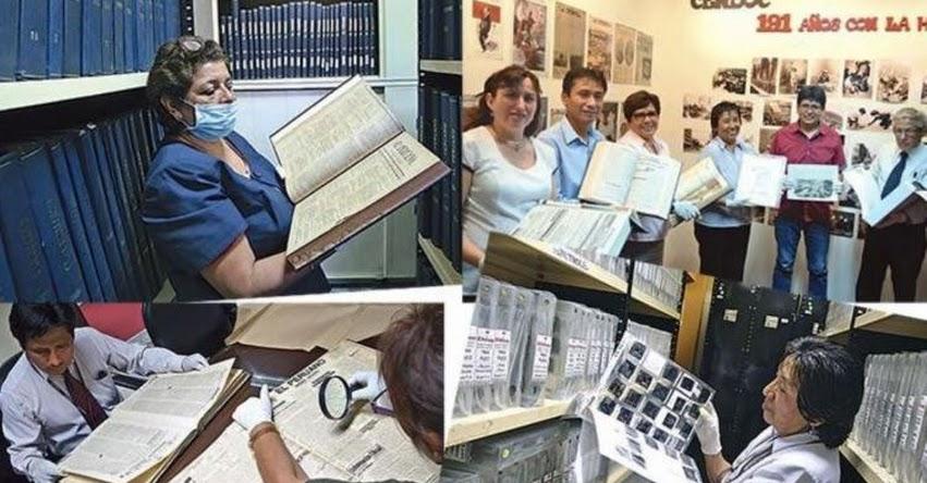 Publicaciones de El Peruano serán Patrimonio Bibliográfico Histórico de la Nación