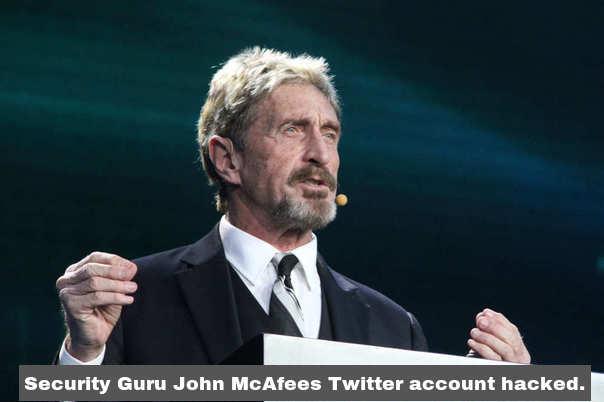 Security Guru McAfee's account hacked