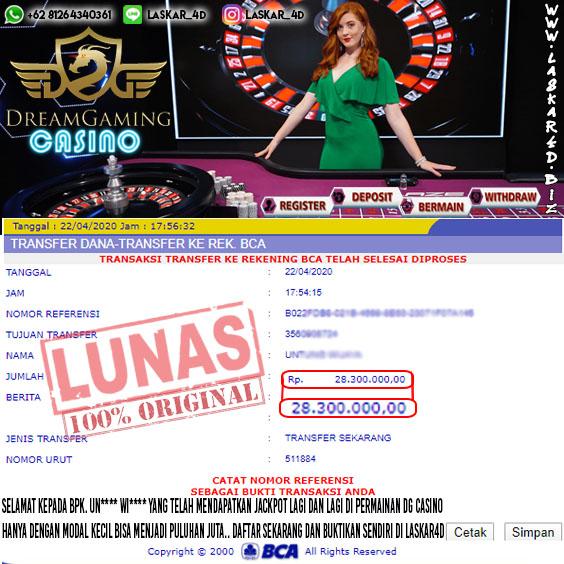 Kemenangan Besar Bermain Di Roulette DG Casino LASKAR4D!