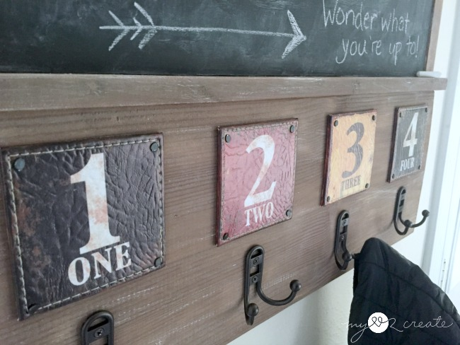 Chalkboard Coat Rack, MyLove2Create