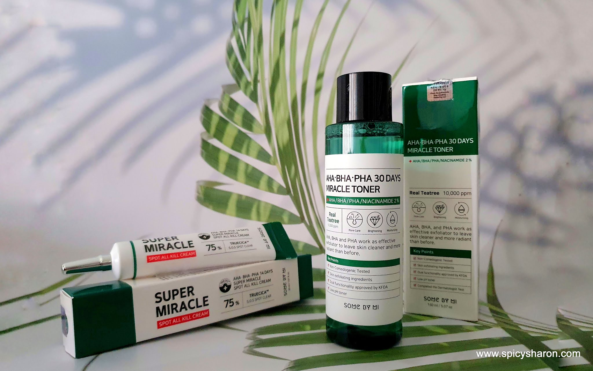 Product Review : Some By Mi Miracle Toner & Super Miracle Spot All Kill Cream