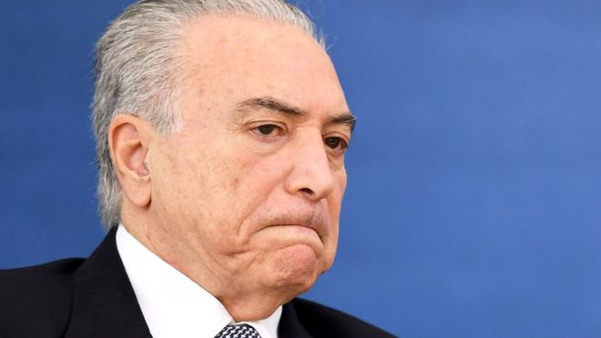 Brazil's president named in corruption allegations