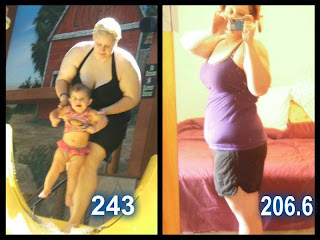 Pictures of real customer weight loss results.