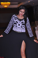 Akshatha in a lovely Leg Split Black Gown Cross legged Latest Stills 15.JPG