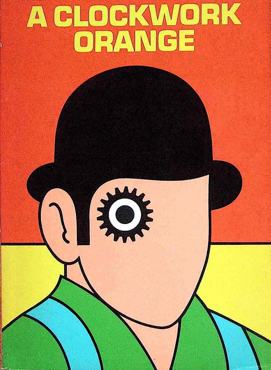 a David Pelham book cover for A Clockwork Orange