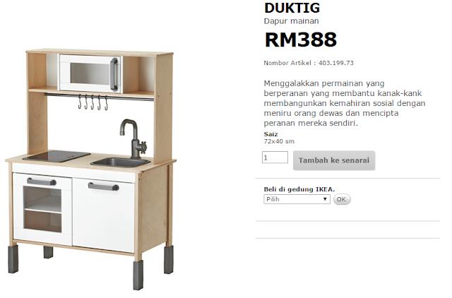 ALwz B3 My Baby DUKTIG Dapur Mainan IKEA