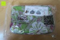 Verpackung: Aosbos Wasserdichte Lunch Tasche Isolierte Thermo Picknicktasche für Lebensmitteltransport(Grün Blumen)