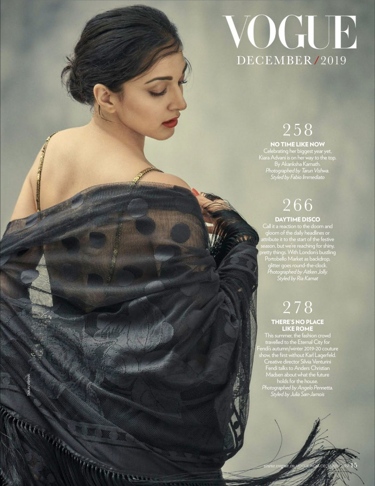 Kiara Advani – Vogue India December 2019 Issue