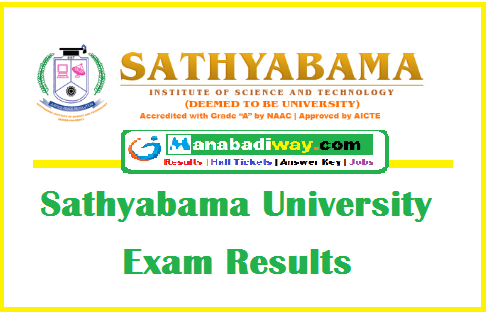 Sathyabama University Results 2019