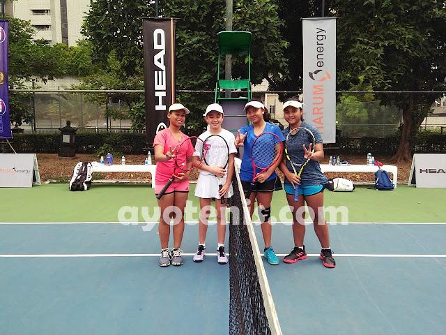WTA FUTURE STARS - Indonesia Qualification: Naura/Joanne Melaju ke Semifinal