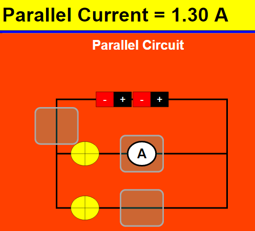 Current In Series and Parallel Circuits JavaScript Simulation Applet