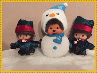 costumes de lutins de Noël faits main pour Bebichhichi, kiki, handmade, couture, Noël, santaclaus, lutins