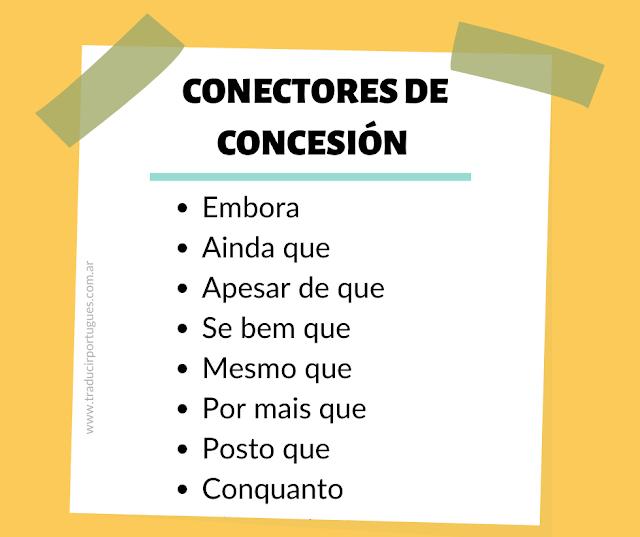 Conectores de concesión en portugués