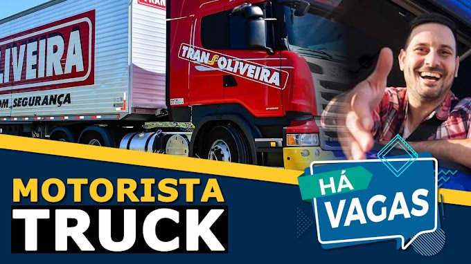 Transportadora Transoliveira abre vagas para motorista truck