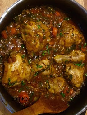 CHICKEN CURRY WITH CARROT AND TURNIP GREENS
