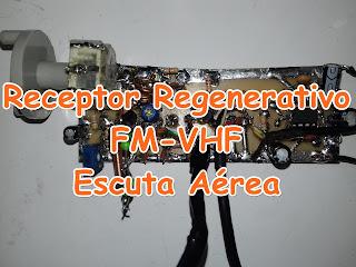 receptor regenerativo para escuta aerea