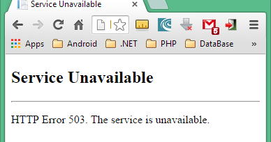 Aruna Nishantha's blogspot: Solved: How To Fix a 503 Service