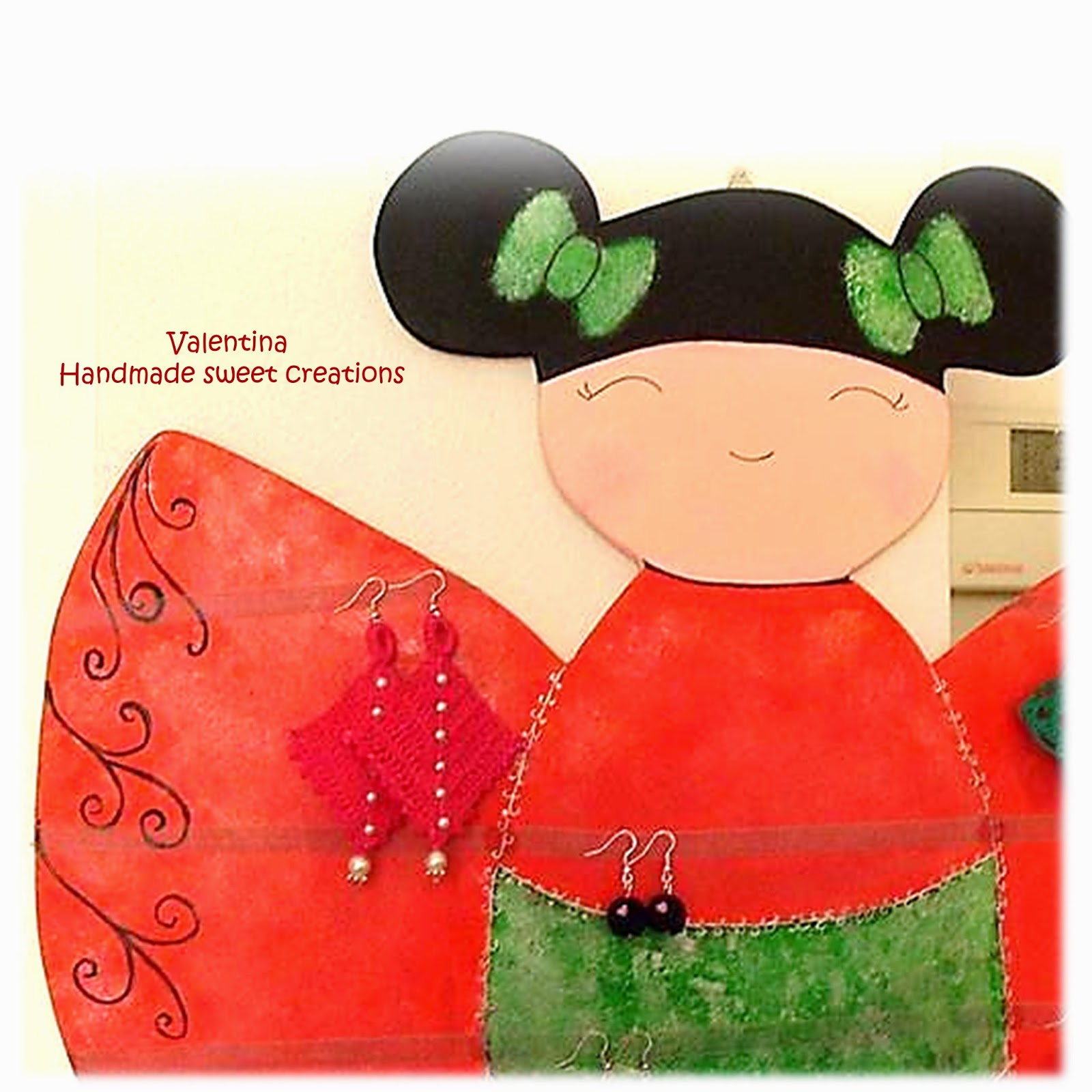 Porta Orecchini Da Parete valentina handmade sweet creations: espositore
