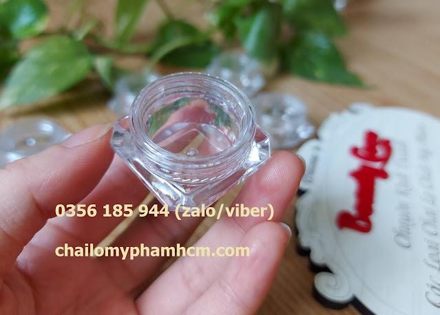 Hộp chiết mỹ phẩm 5g kim cương