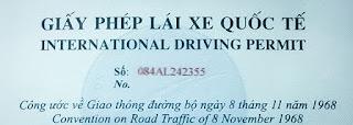 Việt nam cấp gplx ô tô quốc tế