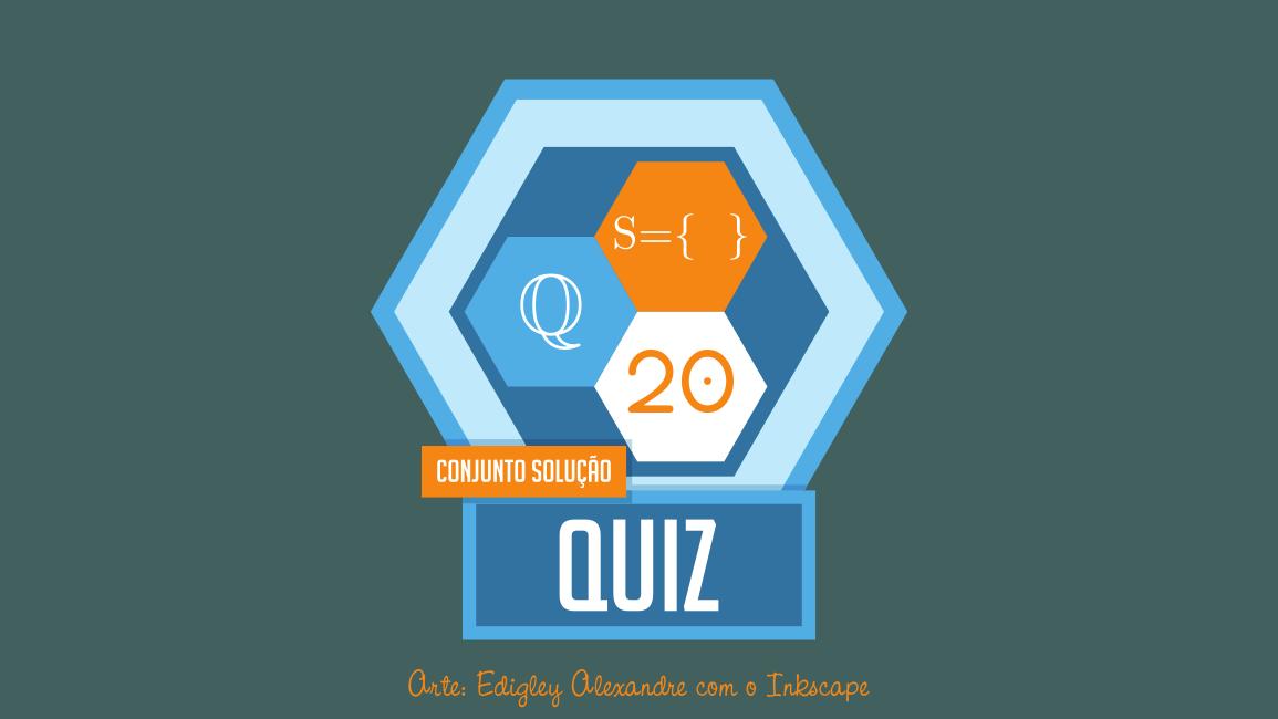 Quiz matemático 20 - Encontre o conjunto solução das equações. Universo: Racional