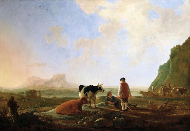 Альберт Кёйп - Пастухи со стадом коров. ок1645