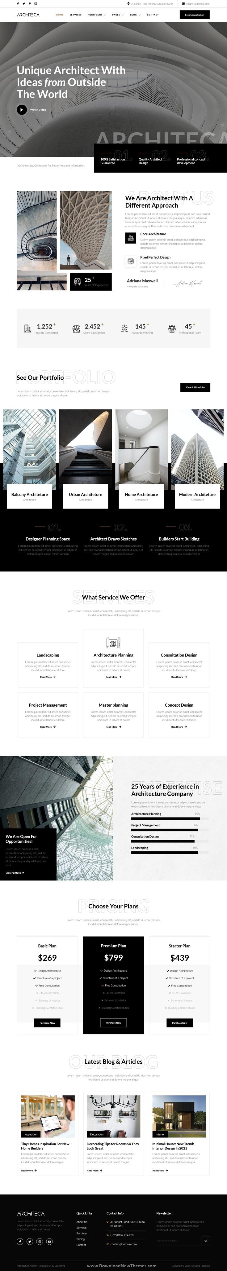 Architecture Agency & Interior Design Elementor Template Kit