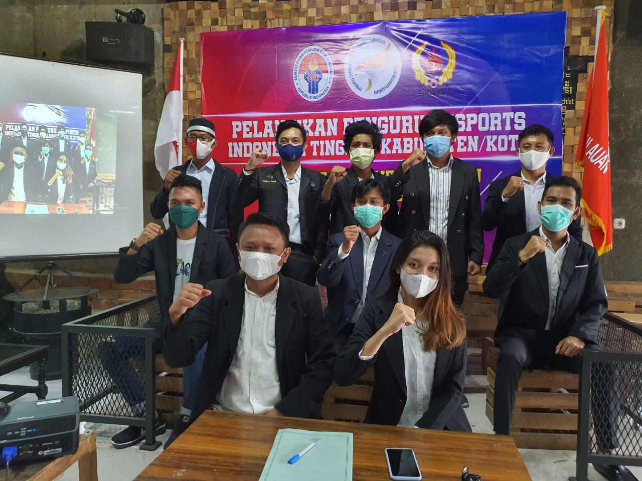 Brigjen TNI. Wing Handoko, S.T Melantik Pengurus Esports Indonesia Kabupaten/Kota se-Sulawesi Selatan