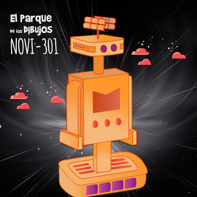 El robot NOVI-301 de Planeta Pomelo, serie exclusiva de El Parque de los Dibujos