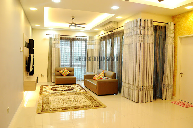 ruang tamu homestay sabah luas dan selesa