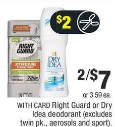 Dry Idea Deodorant CVS Deal $0.59 3-1-3-7