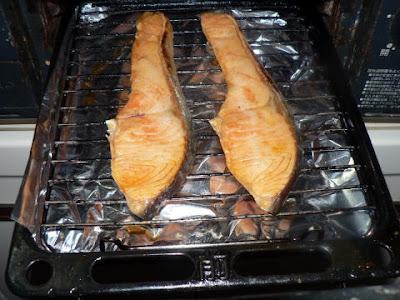 鮭焼き上がり