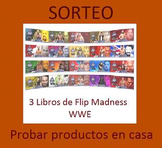Sorteo 3 libros Flip Madness WWE