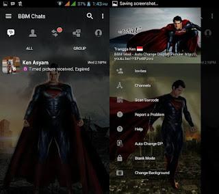 New Update BBM MOD Man of Steel Apk v3.3.4.48 Terbaru