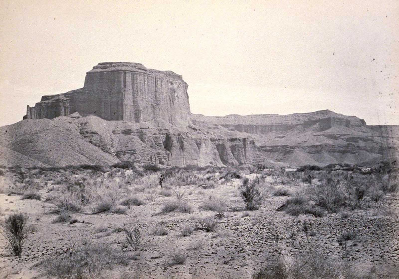 Cathedral Mesa, Colorado River, Arizona, 1871.