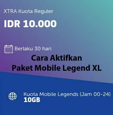 cara beli paket mobile legend xl