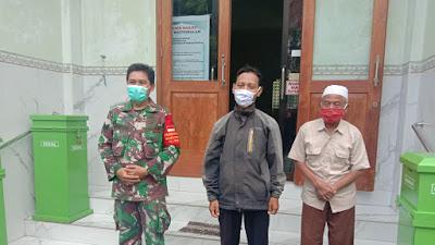 Jelang Kepulangan Ustadz ABB, Babinsa Tipes Komsos Dengan Ta'mir Masjid Baitussalam