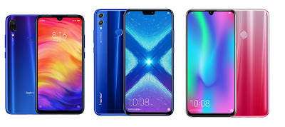 Redmi Note 7 vs Honor 8X vs Honor 10 Lite