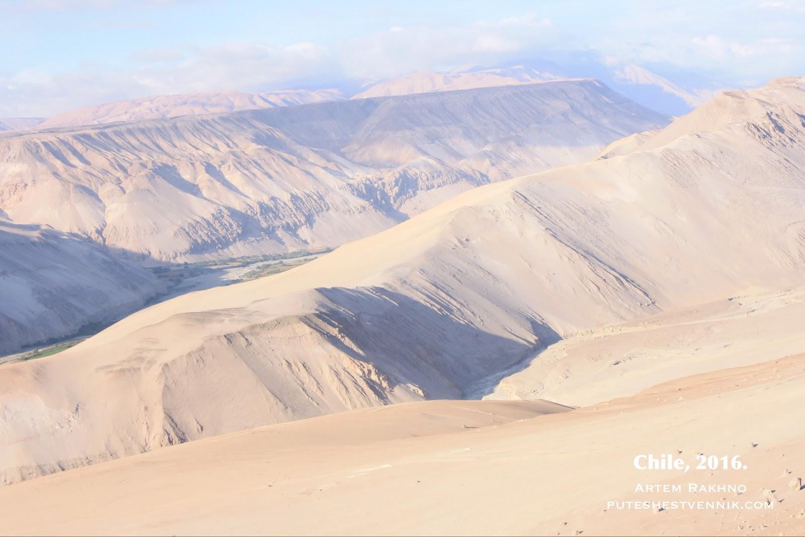 Горы, покрытые песком